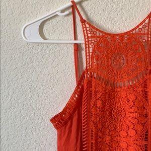 Red-Orange Maxi Dress
